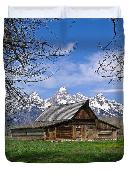 Teton Barn Duvet Cover by Douglas Barnett