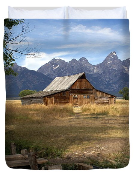 Teton Barn Duvet Cover by Marty Koch