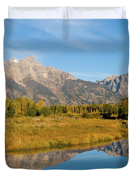 Teton Reflections Duvet Cover by Steve Stuller