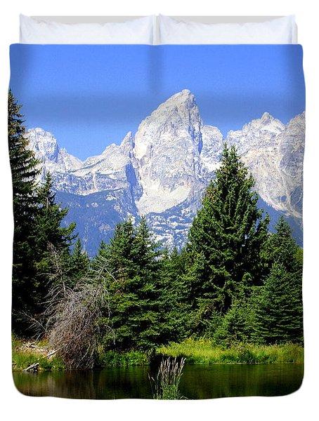 Tetons Duvet Cover by Marty Koch