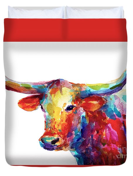Texas Longhorn Art Duvet Cover by Svetlana Novikova