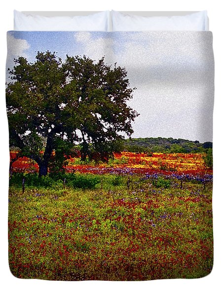 Texas Wildflowers Duvet Cover by Tamyra Ayles