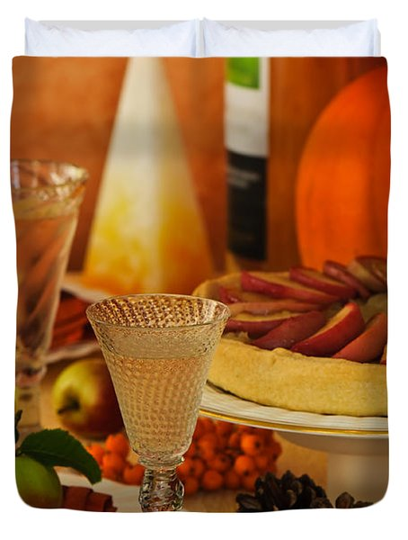 Thanksgiving Table Duvet Cover by Amanda And Christopher Elwell