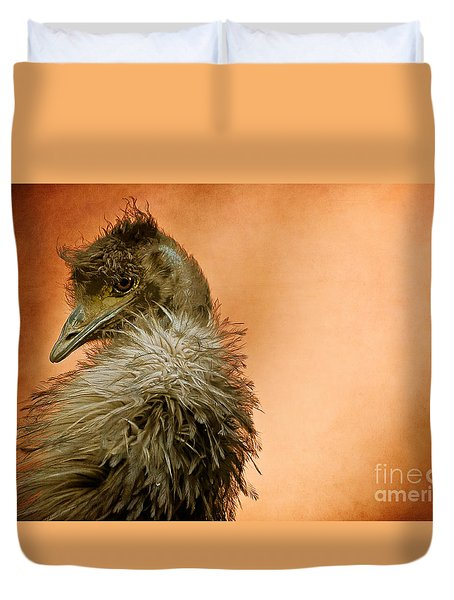 That Shy Come-hither Stare Duvet Cover by Lois Bryan