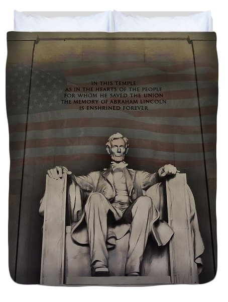 The Abraham Lincoln Memorial Duvet Cover by Bill Cannon