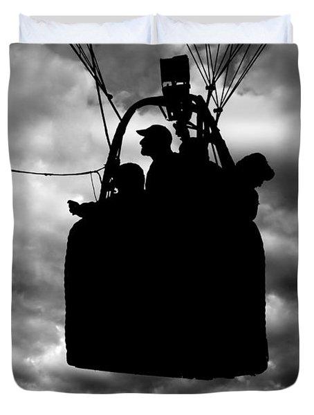 The Adventure Begins  Hot Air Balloon Duvet Cover by Bob Orsillo