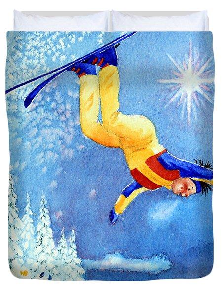 The Aerial Skier 18 Duvet Cover by Hanne Lore Koehler