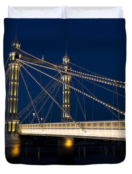 The Albert Bridge London Duvet Cover by David Pyatt