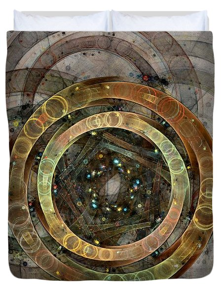 The Almagest - Homage To Ptolemy - Fractal Art Duvet Cover by NirvanaBlues