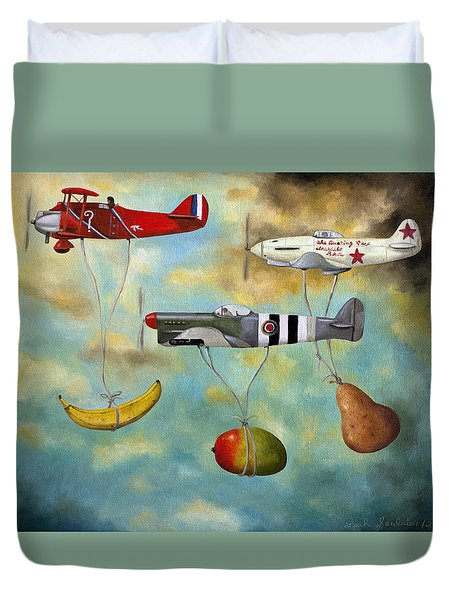The Amazing Race 6 Duvet Cover by Leah Saulnier The Painting Maniac