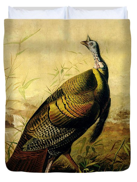 The American Wild Turkey Cock Duvet Cover by John James Audubon