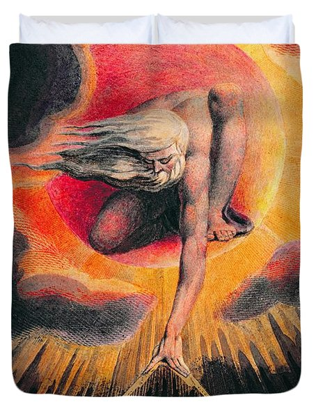 The Ancient Of Days Duvet Cover by William Blake
