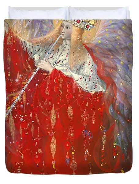 The Angel Of Life Duvet Cover by Annael Anelia Pavlova