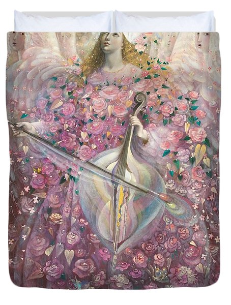 The Angel Of Love Duvet Cover by Annael Anelia Pavlova