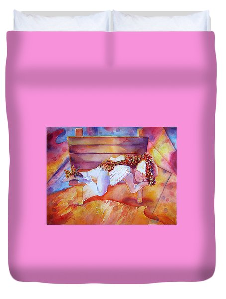 The Angel's Nap Duvet Cover by Estela Robles