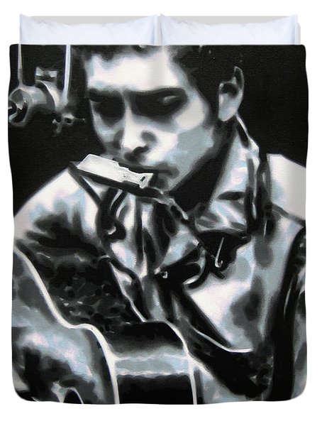 The Answer My Friend Is Blowin In The Wind Duvet Cover by Luis Ludzska