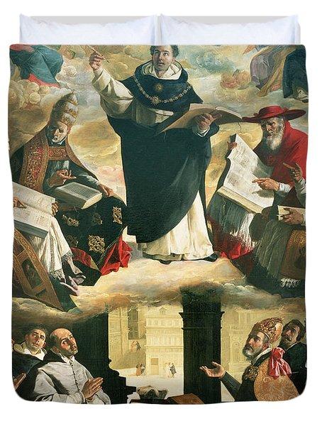 The Apotheosis Of Saint Thomas Aquinas Duvet Cover by Francisco de Zurbaran