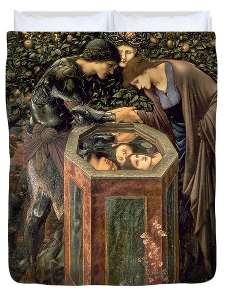 The Baleful Head Duvet Cover by Sir Edward Burne-Jones