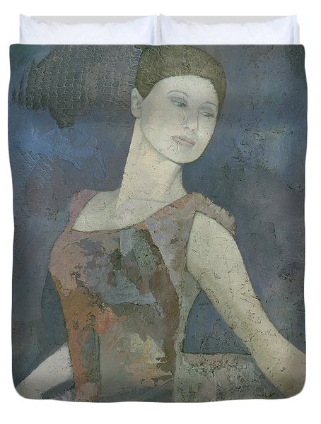 The Ballerina Duvet Cover by Steve Mitchell