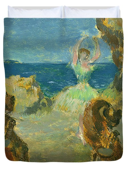 The Ballet Dancer Duvet Cover by Edgar Degas