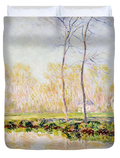 The Banks Of The River Epte At Giverny Duvet Cover by Claude Monet