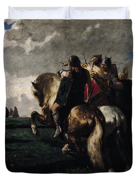 The Barbarians Before Rome Duvet Cover by Evariste Vital  Luminais