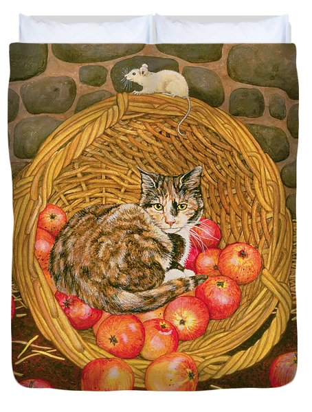 The Basket Mouse Duvet Cover by Ditz