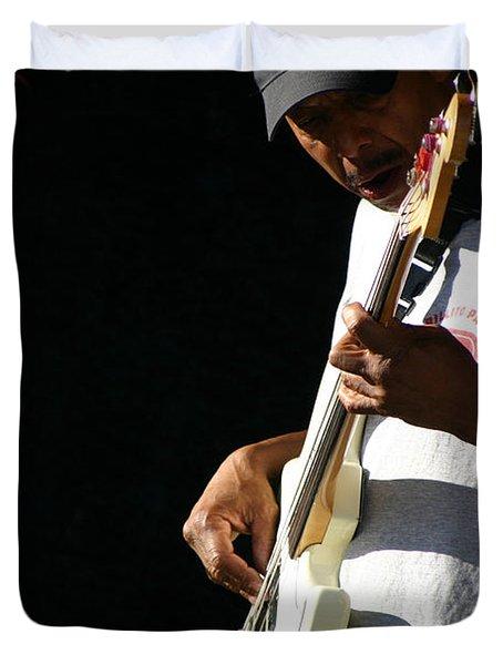 The Bassman Duvet Cover by Joe Kozlowski