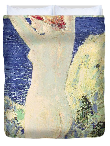The Bather Duvet Cover by Childe Hassam