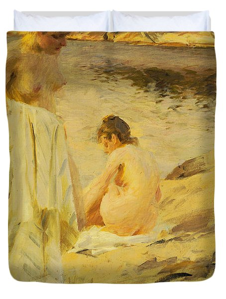 The Bathers Duvet Cover by Anders Leonard Zorn