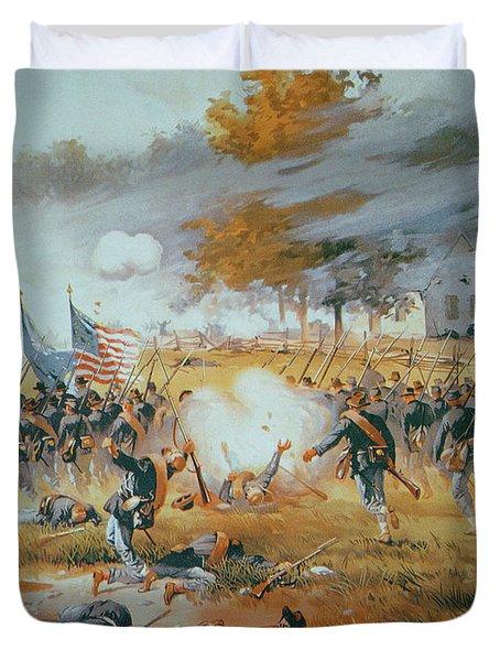 The Battle Of Antietam Duvet Cover by Thure de Thulstrup