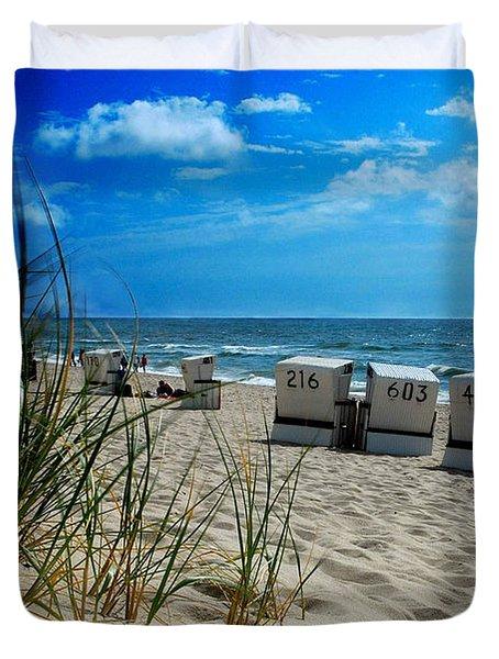 The Beach Duvet Cover by Hannes Cmarits