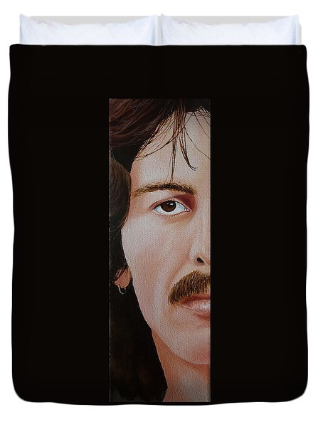 The Beatles George Harrison Duvet Cover by Vic Ritchey