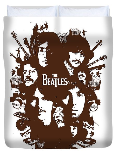 The Beatles No.15 Duvet Cover by Caio Caldas