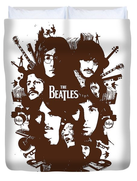 The Beatles No.15 Duvet Cover by Caio Caldas