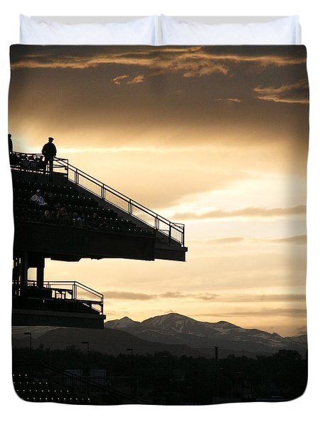 The Beauty Of Baseball In Colorado Duvet Cover by Marilyn Hunt