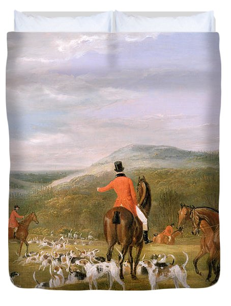 The Berkeley Hunt Duvet Cover by Francis Calcraft Turner