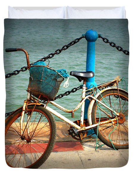 The Bicycle Duvet Cover by Carol Groenen