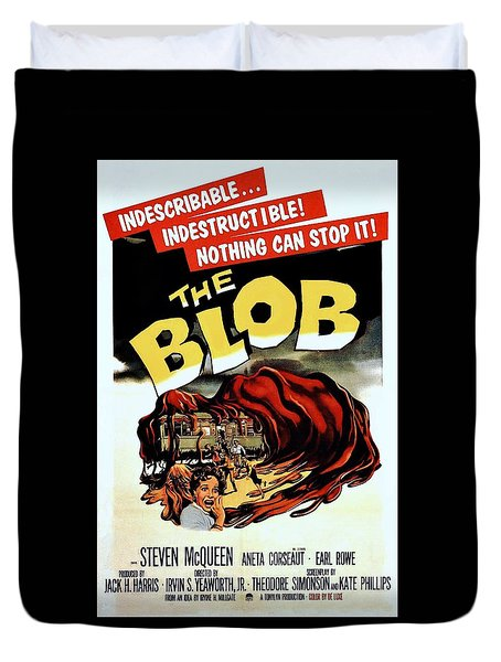 The Blob  Duvet Cover by Movie Poster Prints