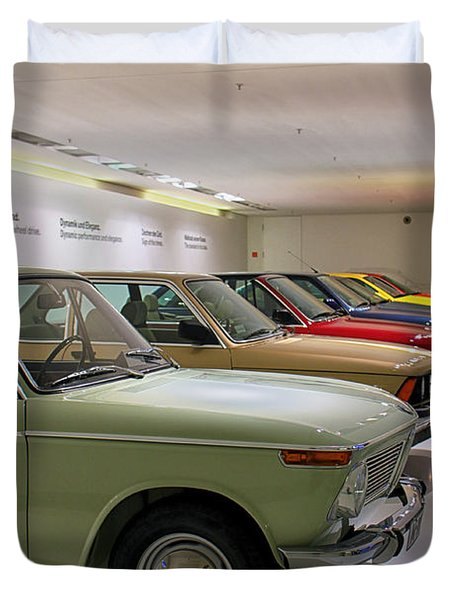The Bmw Line Up Duvet Cover by Lauri Novak