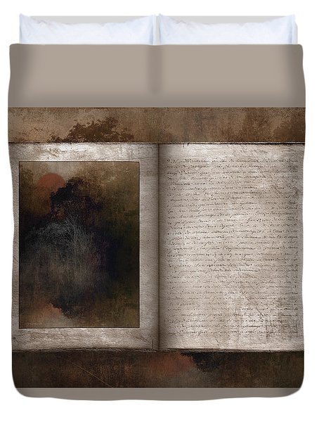 The Book Of Life Duvet Cover by Ron Jones