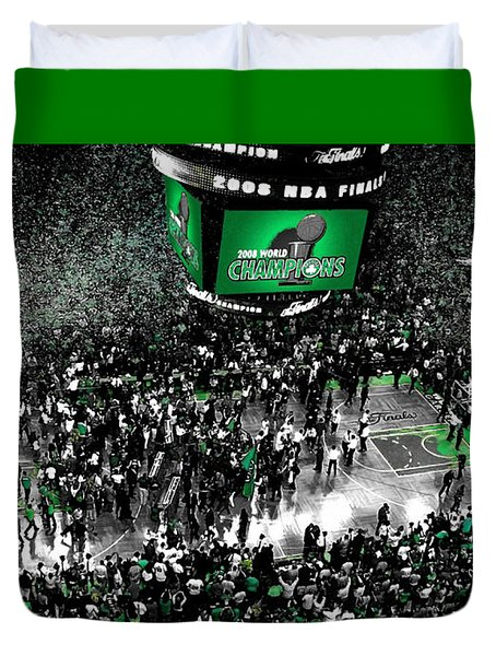 The Boston Celtics 2008 Nba Finals Duvet Cover by Brian Reaves