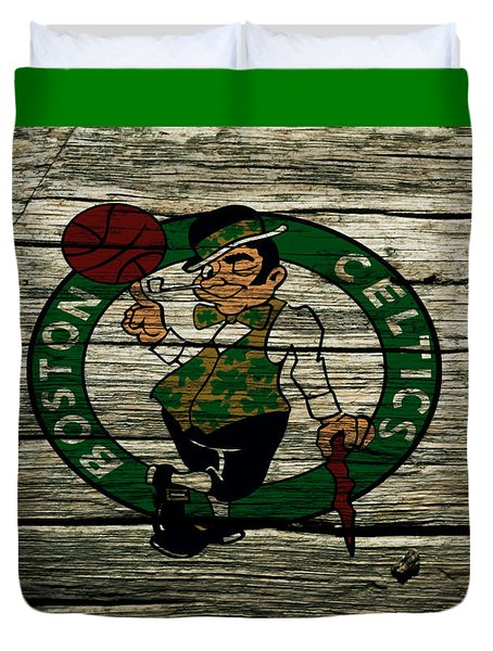 The Boston Celtics 2w Duvet Cover by Brian Reaves