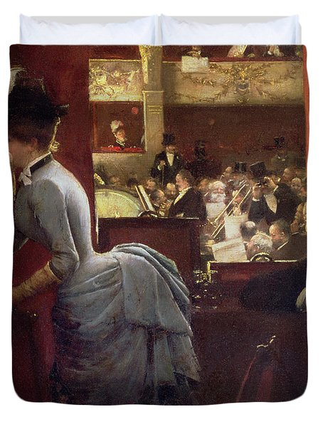 The Box By The Stalls Duvet Cover by Jean Beraud