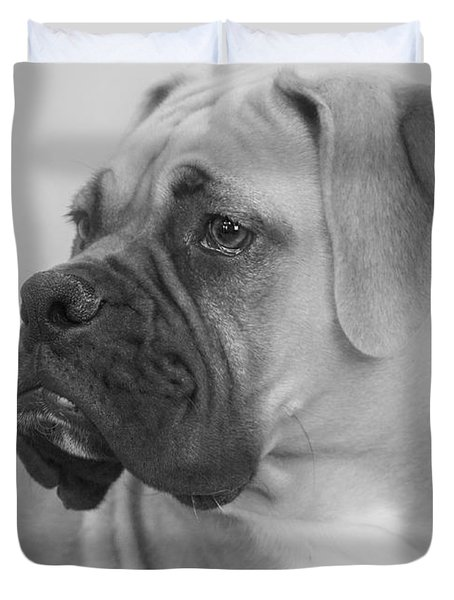 The Boxer Dog - The Gentleman Amongst Dogs Duvet Cover by Christine Till