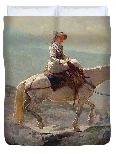 The Bridal Path Duvet Cover by Winslow Homer