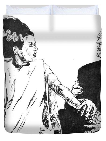 The Bride Of Frankenstein Duvet Cover by Bryan Bustard
