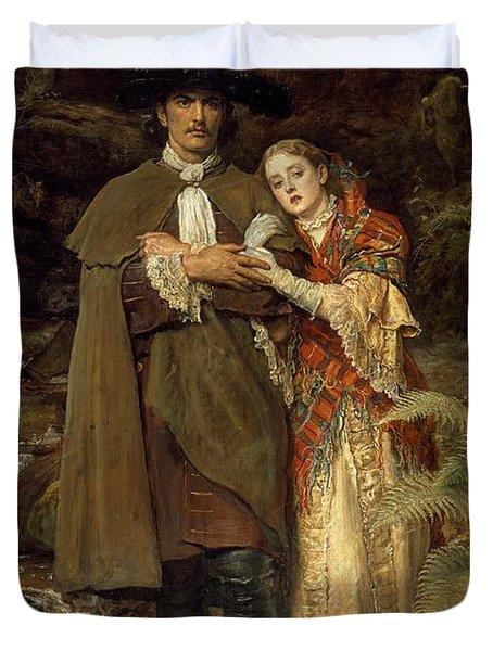 The Bride Of Lammermoor Duvet Cover by Sir John Everett Millais