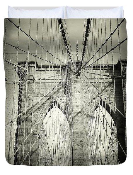 The Brooklyn Bridge Duvet Cover by Vivienne Gucwa