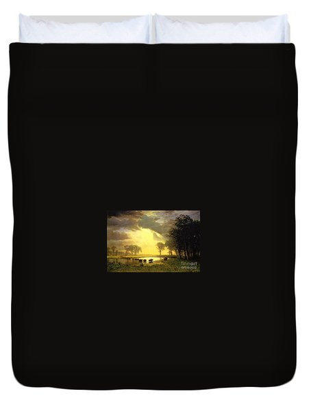 The Buffalo Trail Duvet Cover by MotionAge Designs